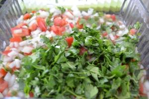 fajitas, pico, burgers, corn & poblano soup 014